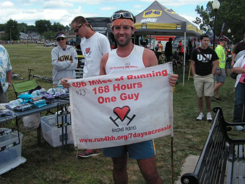 Pete Kostelnick ran the entire RAGBRAI route, including the Karras Loop.