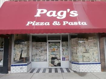 Outside Former Pag's Pizza & Pasta