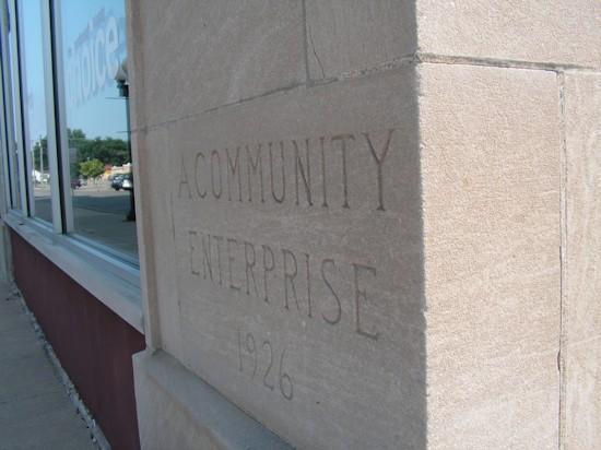 The cornerstone of the Lamoine Hotel