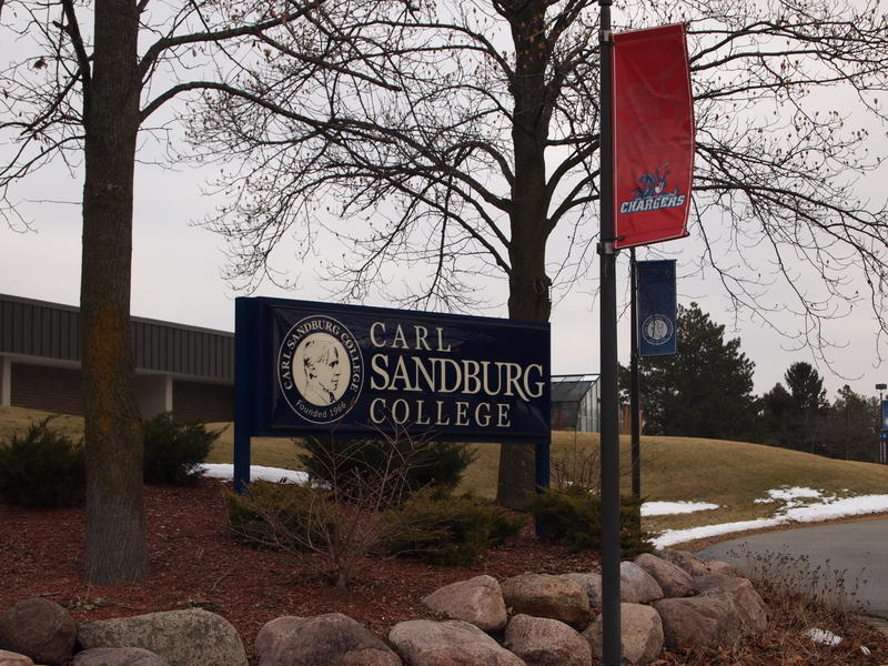 Student tuition and fees are the other main sources of revenue for Carl Sandburg College