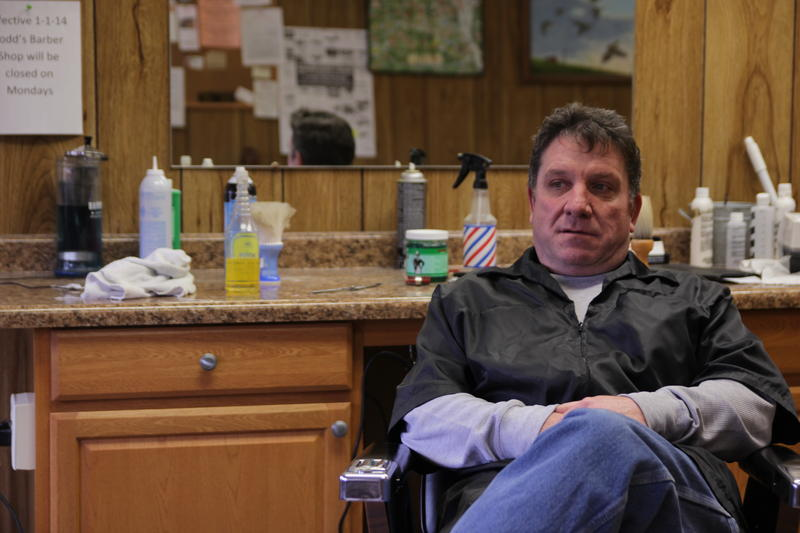 Todd Mendenhall owns a barber shop off Main Street in downtown Havana. He said the town depends on the farm sector to keep businesses like his afloat.