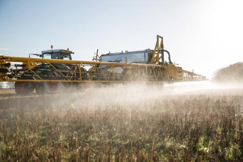 Farmers all over the world use tractors to apply herbicides like glyphosate to their fields.