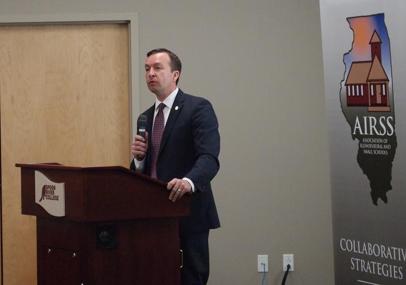 State Senator Andy Manar during the AIRSS forum