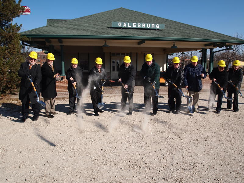 The city of Galesburg broke ground on improvements to the Galesburg Amtrak Depot last November.  It is a stop on the Illinois Zephyr.