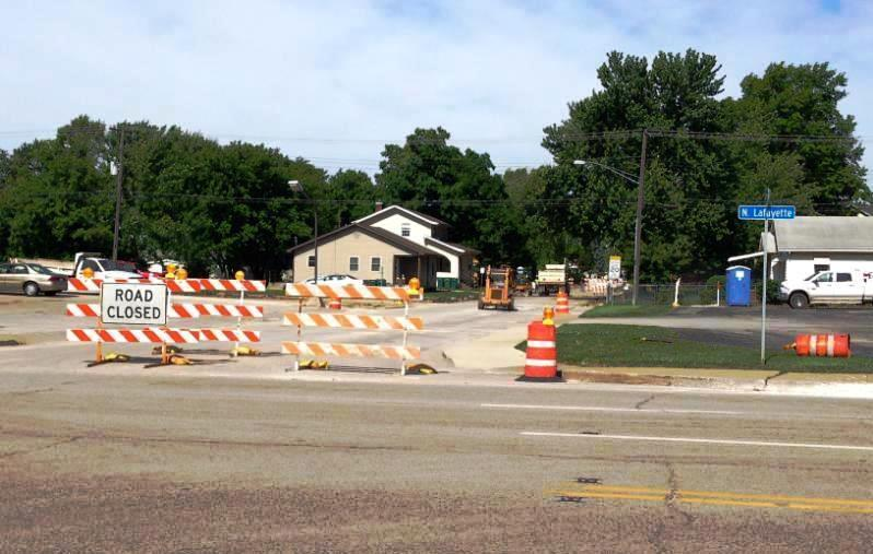 The W. Adams St. and N. Lafayette St. intersection will soon feature a median