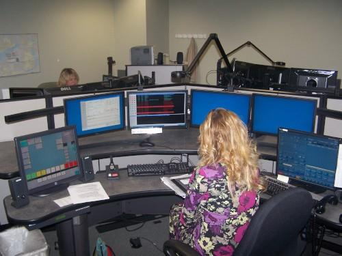 A look inside the LeeComm Dispatch Center.