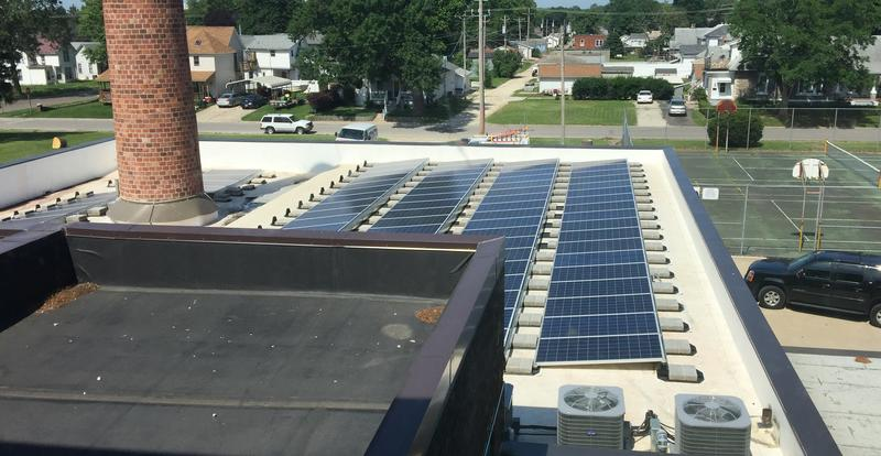 A series of solar panels have allowed Schneider to avoid an electric bill throughout construction.