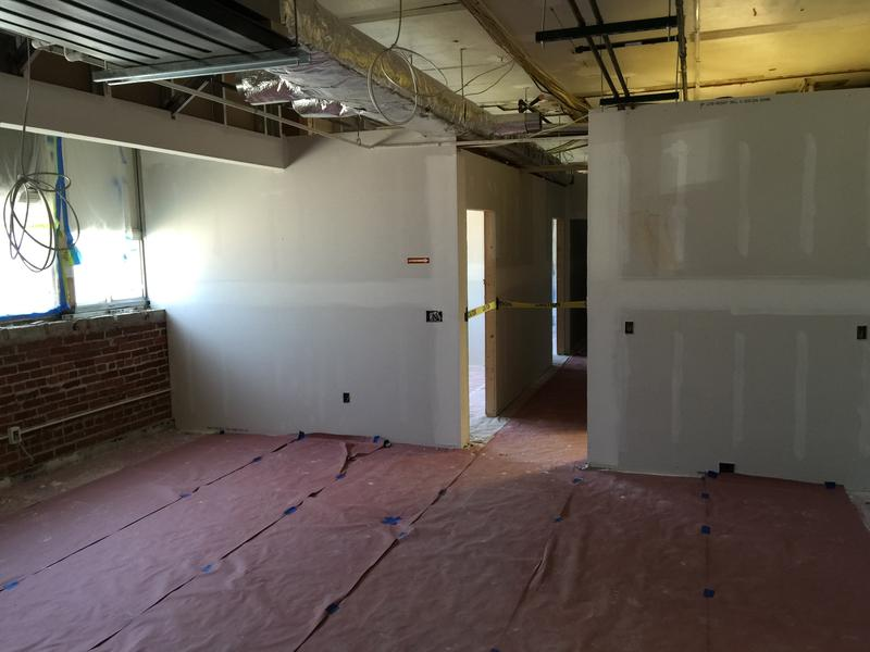 Inside an under construction apartment on the first floor of the former Fort Madison Middle School
