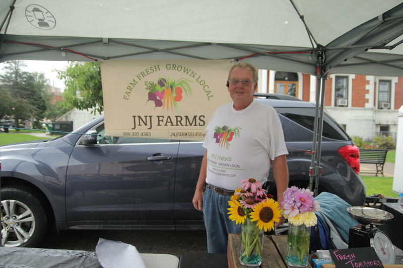 John Greenwood of JNJ Farms said he has sunk up to his knees in mud picking produce this season.  John farms with his wife, Jan, in Macomb.