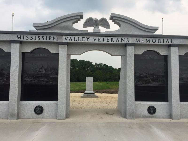 The dedication for the Mississippi Valley Veterans Memorial will be held at 1:00 pm on July 4 in West Burlington.