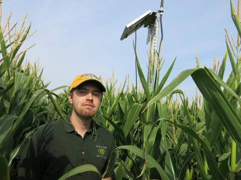 After growing up on a farm, researcher Jeff Siegfried wants to use technology to make agriculture more efficient.