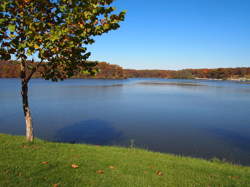 The beach would be built in this general area of Spring Lake.