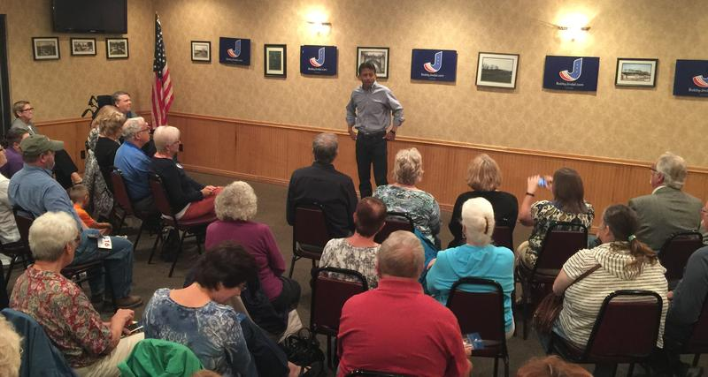 Gov. Bobby Jindal (R-LA) spoke to a crowd of about 50 people at the Hawkeye Restaurant in Keokuk on Tuesday