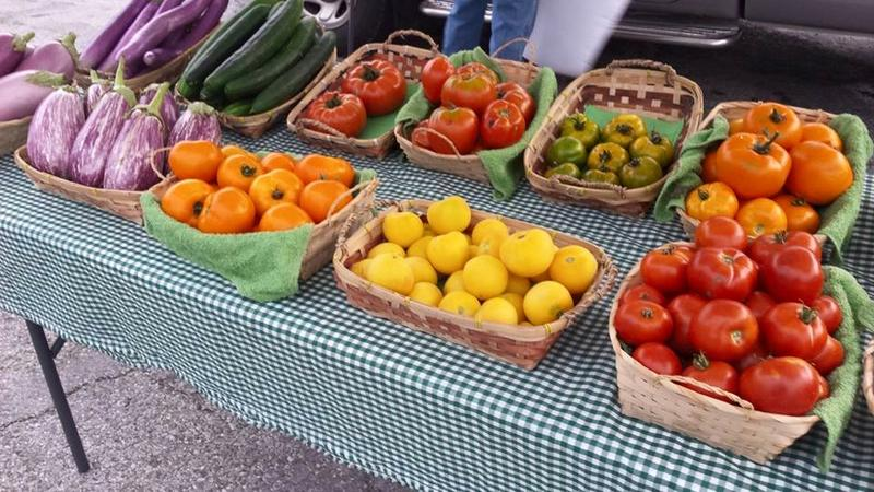 Produce on sale at the Macomb Farmer's Market