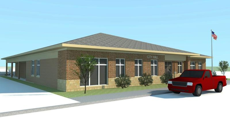 An artist's rendering of the proposed Donnellson Public Library