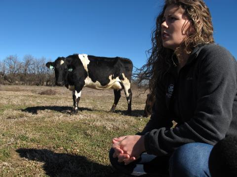 Farmer Aubrey Fletcher grew up on a dairy and married into a dairy farm family.
