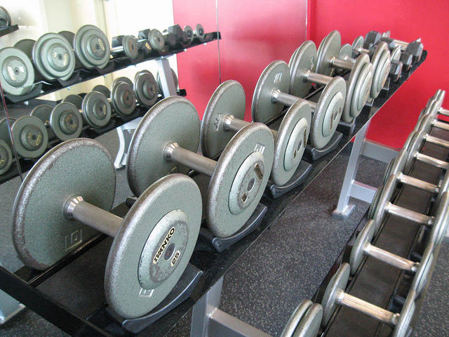 Free weights were found to have more bacteria than a toilet seat in a recent study