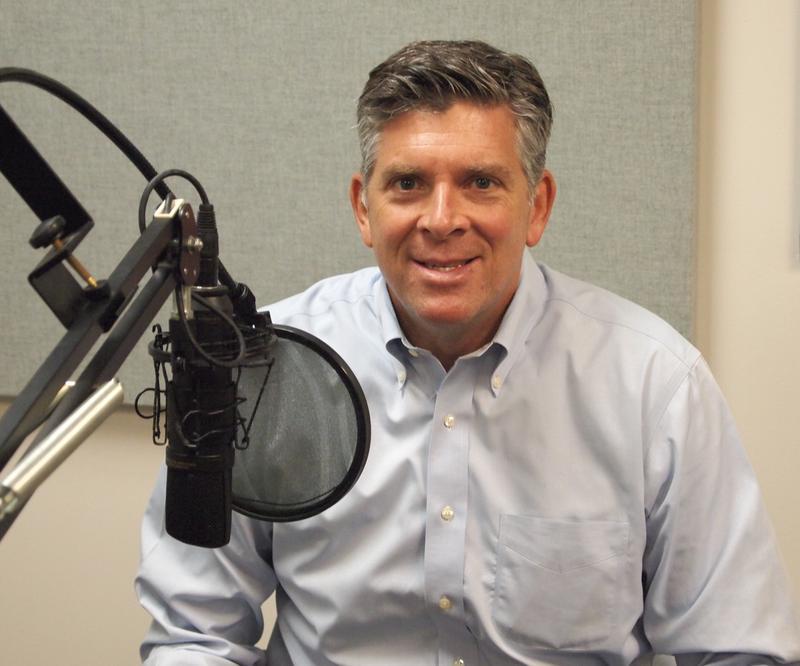 Congressman Darin LaHood (R-IL) in the Tri States Public Radio studios.