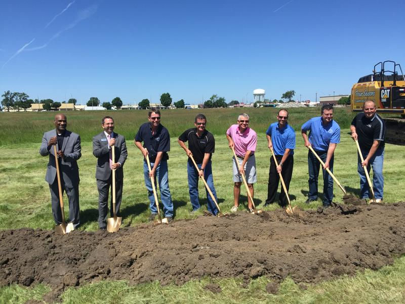 Local leaders in Burlington broke ground on the 28-acre site previously known as the Manor.