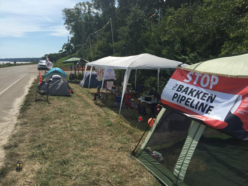 Jessica Reznicek's encampment in Lee County continues to grow, both in terms of tents and permanent occupants
