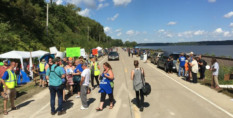 Opponents of the Dakota Access pipeline said they need even more people to show up this weekend to help stop construction of the project in Lee County.