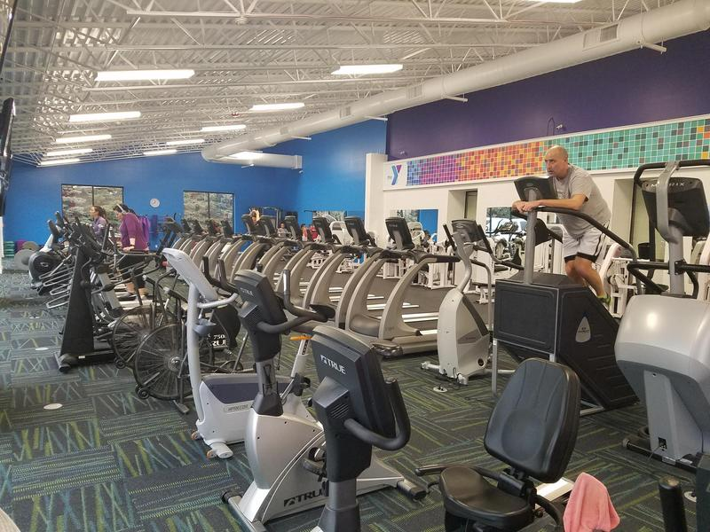 Stair machines, treadmills, stationary bikes are some of the new exercise equipment featured in the new Wellness Center at the Warren County YMCA.