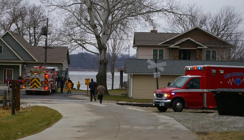 Crews respond to a call of a boat capsizing on the Mississippi River with two men aboard near Montrose.