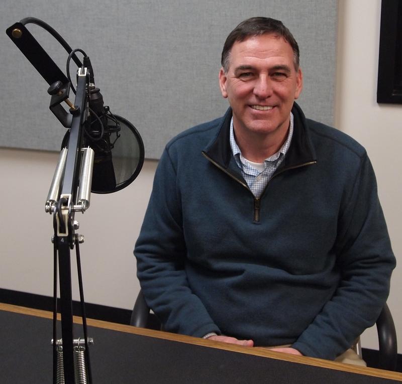 John Sullivan in the Tri States Public Radio studios a few days before he wraps up his legislative career.