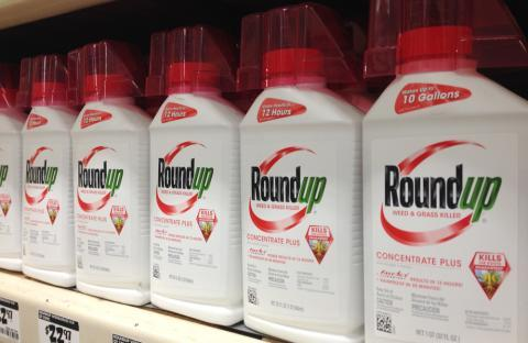 Roundup, the Monsanto brand-name pesticide built on the chemical glyphosate, is used on farm fields and on lawns and gardens.