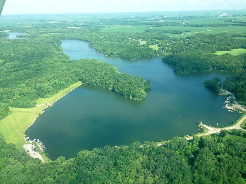 Spring Lake is a man-made lake and provides Macomb's water supply.