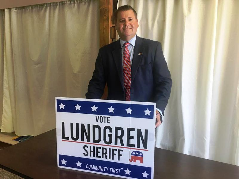 Justin Lundgren held his campaign announcement at the Old Dairy in Macomb