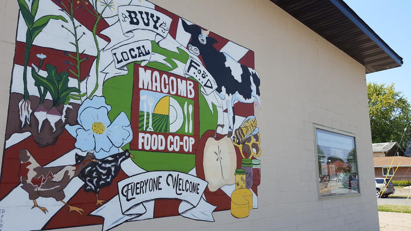 For the time being, the Macomb Food Co-op will remain in this building at the corner of McArthur and Washington Streets.