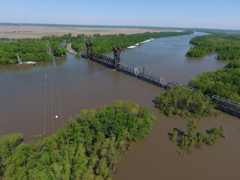 Photo taken by drone over Beardstown, IL