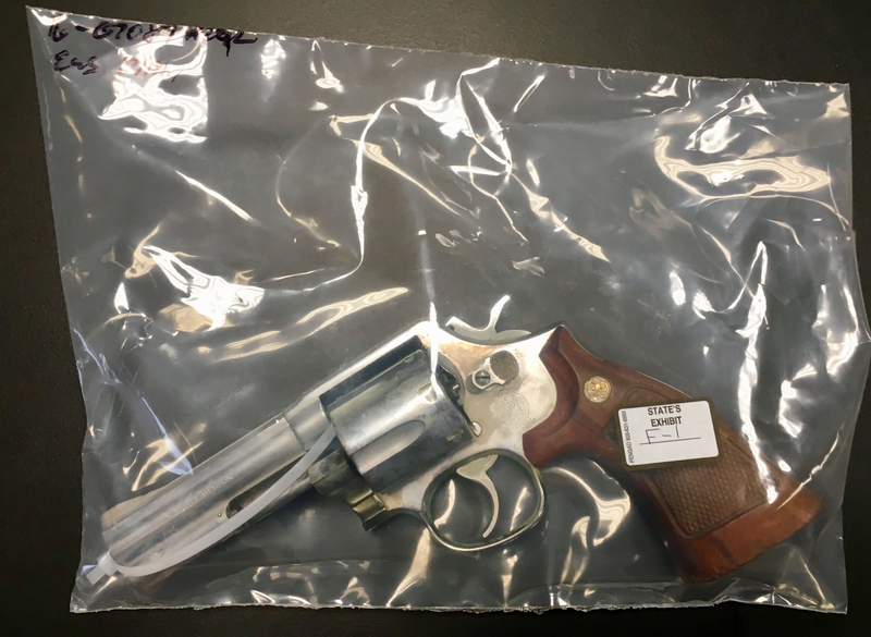 Prosecutors say this is the gun used to kill Kedarie Johnson, 16, of Burlington. A witness testified Tuesday that she saw Jorge Sanders-Galvez, 23, with it a couple weeks before the shooting