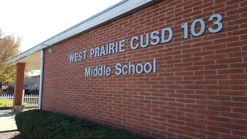 A design firm found West Prairie Middle School is in the worst shape of the district's schools.  It's rated as being in poor condition.