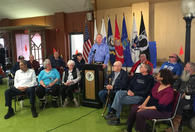 Gov. Bruce Rauner (R-IL) speaking from the Illinois Veterans Home in Quincy.
