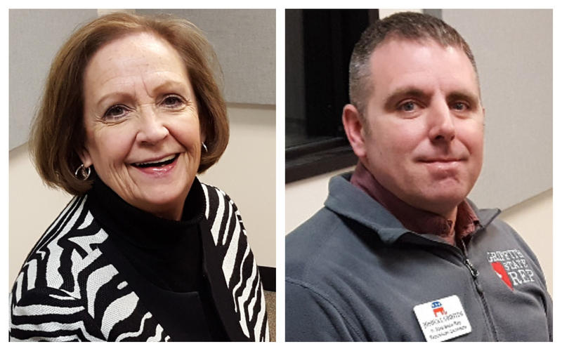 State Representative Norine Hammond (left) is being challenged by Joshua Griffith in the Republican primary.