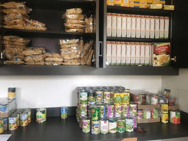 Students can get up to 27 items during a single trip to the WIU Food Pantry