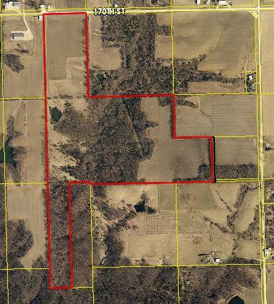 The area outlined in red is the new Harold and Mildred Lindner Conservation Area near Sperry, Iowa