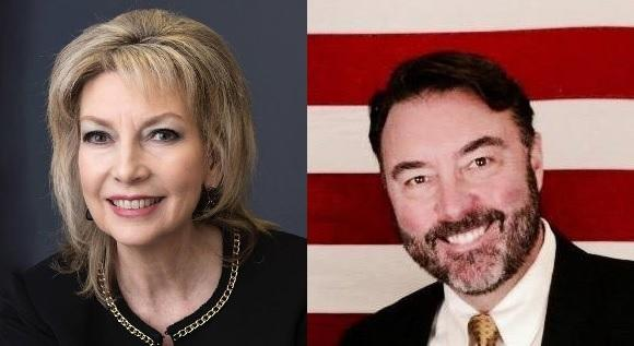 (L-R) Ginny Caligiuri (R-Osceola) and Christopher Peters (R-Coralville) are seeking the GOP nomination in Iowa's 2nd Congressional District.