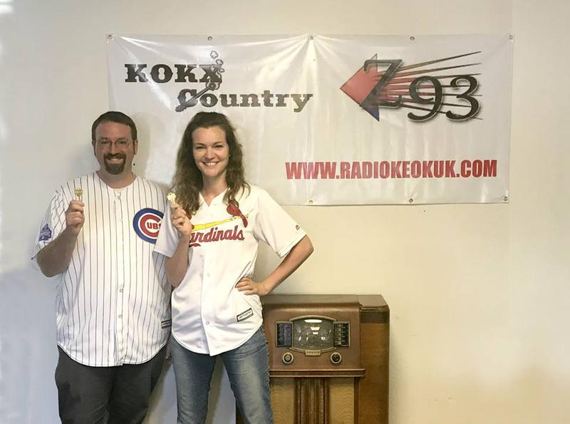 Mike Greenwald (L) and Leah Jones are the new owners of KOKX-AM and WCEZ-FM