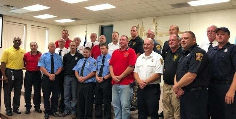 Burlington honored the fire departments that responded to the Tama Complex fire on Aug. 4 with Mayor's Awards to show their appreciation.