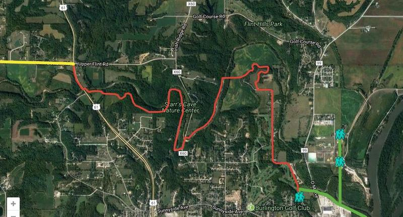 The goal is to create a roughly 20-mile off-road trail from downtown Burlington to Big Hollow Recreation Area. The section highlight in red is the largest contiguous stretch that still needs to be completed.