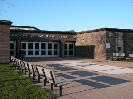 The current junior-senior high school in Macomb