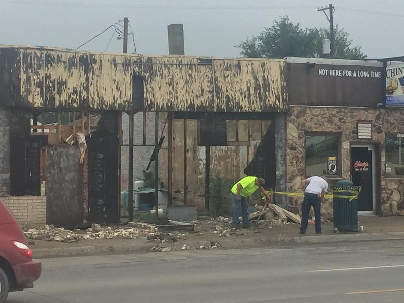 Work was underway Wednesday morning to clean up debris following a storm that hit Keokuk Tuesday night.