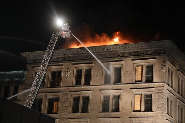 The Tama Building was destroyed by a fire that started late Saturday night