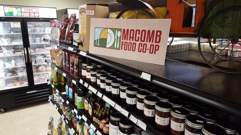 The Macomb Food Co-op sells local foods and other locally produced goods.