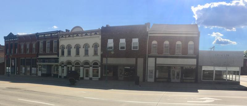 Roquette purchased the seven buildings shown in the 1100 block of Main Street for $110,000.