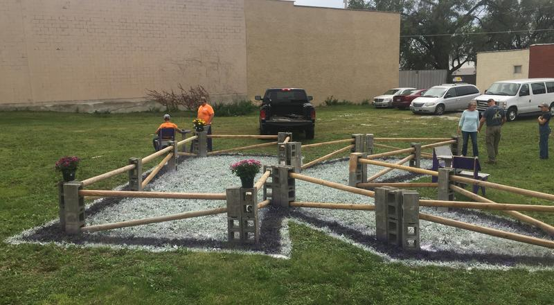 A group of KHS students built a pop-up park that was open through Labor Day. It was built in conjunction with a program that aims to show what a vacant lot or empty building can look like with a little effort.