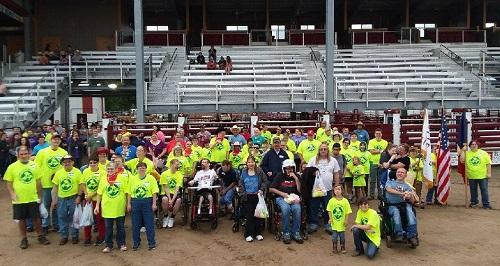 Many of the participants in the 2018 Tri State Special Kids Rodeo in Fort Madison.